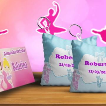 Chaveiros Almofada Personalizado Tema Menina Bailarina