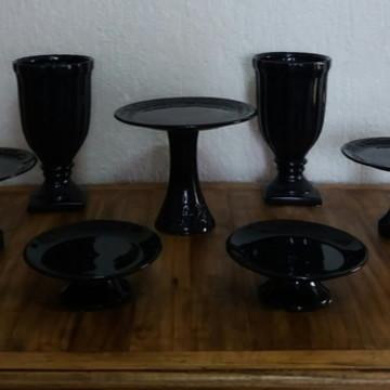 Kit de Cerâmica Preto - Locação