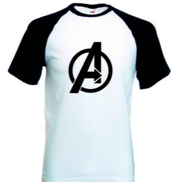 Camiseta Raglan Manga Curta Avengers Os Vingadores