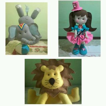 Kit Circo de Menina - 3 personagens