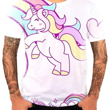 Camisa Camiseta Personaliza Animal Desenho Unicórnio 3