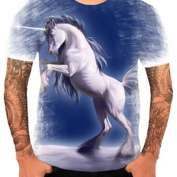 Camisa Camiseta Personaliza Animal Desenho Unicórnio 5