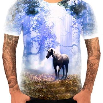 Camisa Camiseta Personaliza Animal Desenho Unicórnio 6
