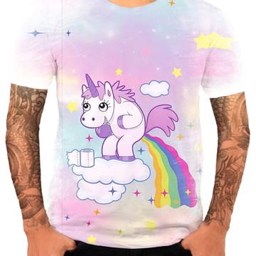 Camisa Camiseta Personaliza Animal Desenho Unicórnio 9
