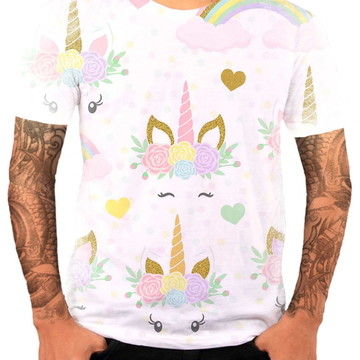 Camisa Camiseta Personaliza Animal Desenho Unicórnio 10