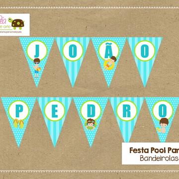 Bandeirola Festa Piscina Pool Party