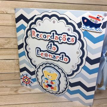 Recordações do bebê + Álbum Dental Ursinho Marinheiro