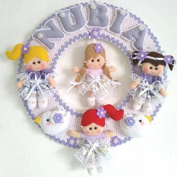 Guirlanda Feltro Bonecas Porta Maternidade