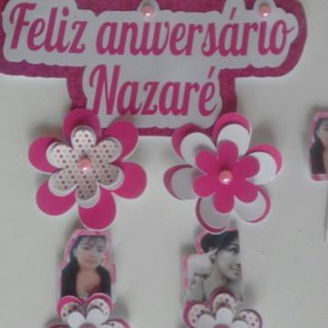Topo de bolo- Flores rosas