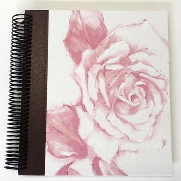 Caderno Especial Linho Rosa