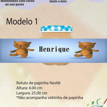 Rótulo Vidro Papinha-Ursinho