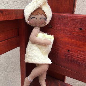 Boneca Enfeite para Porta do Banheiro