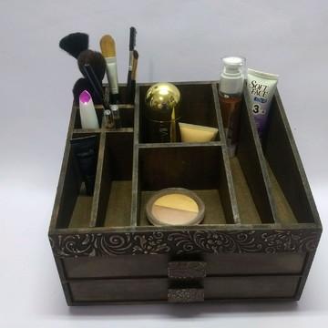 Caixa maquiagem envelhecida