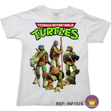 Camiseta Infantil Tartarugas Ninjas Ninja Turtles 02