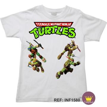 Camiseta Infantil Tartarugas Ninjas Ninja Turtles 04