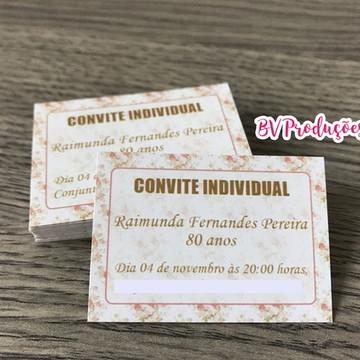 Convite Individual - Qualquer Tema