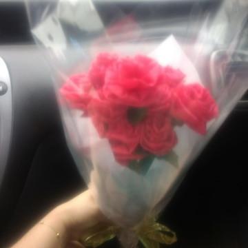 Buquê de rosas artesanais