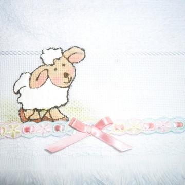Mini toalha para lembrancinha rosinhas