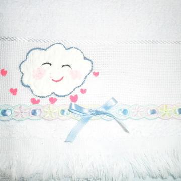 Mini Toalha para Lembrancinha Nuvezinha