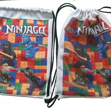 d84719d12 Mochila Saco Personalizada Ninjago - Promoção 50 unidades