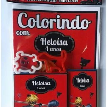 Kit de colorir com Massinha Lady Bug
