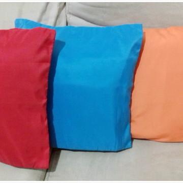 Capas de almofadas cores lisas