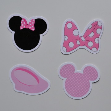 Apliques Minnie rosa