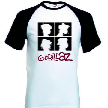 Camiseta Raglan Manga Curta Gorillaz