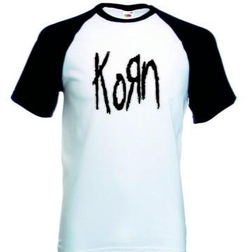 Camiseta Raglan Manga Curta Korn banda De Rock