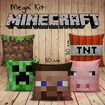 Kit Almofadas - Minecraft 30x30