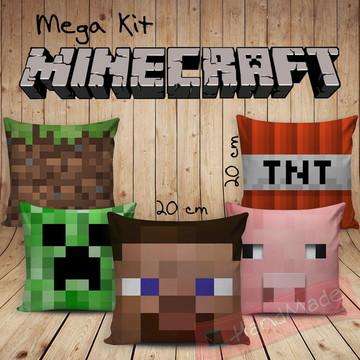 Kit Almofadas - Minecraft 20x20