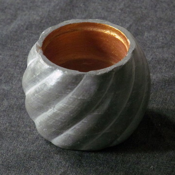 1 Pote de concreto torcido