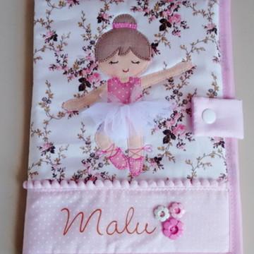 Capa para caderneta de vacina bailarina