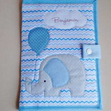 Capa para caderneta de vacina elefante