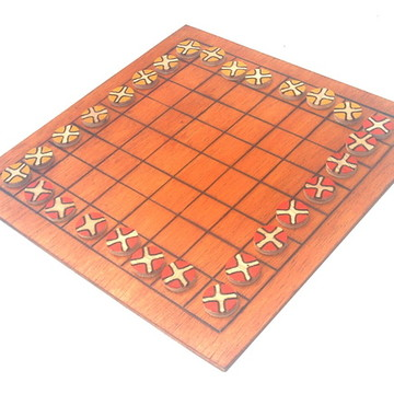 Ming Mang 64 casas - Jogo de tabuleiro Tibetano em madeira