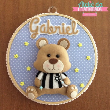 Enfeite de Porta-maternidade Urso Botafogo