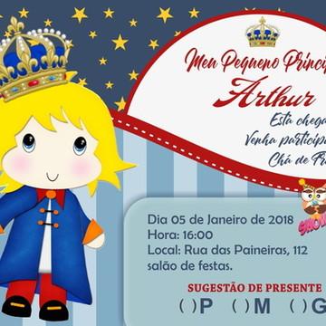 Arte convite pequeno príncipe