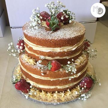 Bolo | Naked Cake | Frutas | Flores