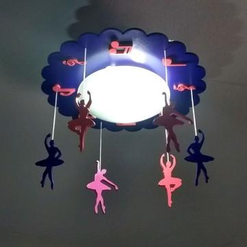 luminária lustre infantil bebê bailarinas