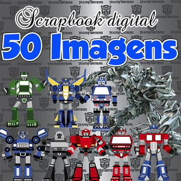 Kit Scrapbook Digital transformers