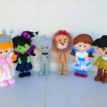 Personagens Mágico de Oz em feltro - 6 Personagens