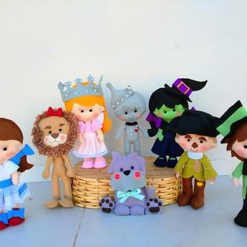 Personagens Mágico de Oz em feltro - 8 Personagens