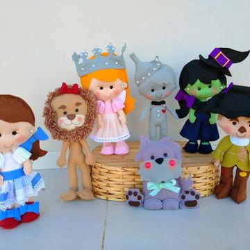 Personagens Mágico De Oz Em Feltro - 7 Personagens