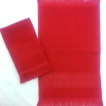 Toalha Social Vermelha; Toalhinha de Mão, Boca, Bebê; Arte.