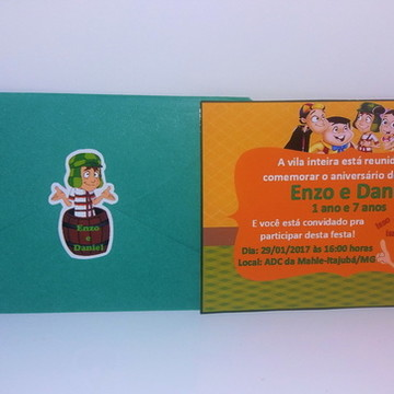 Convite Chaves - Grátis envelope e adesivo