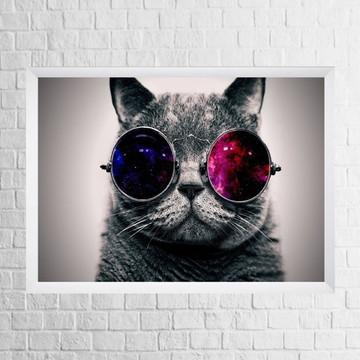 Quadro Gato (com moldura e vidro)