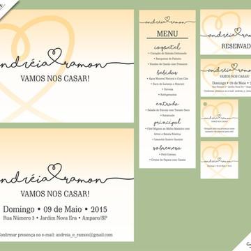 Santorini Luxo - Identidade Visual de Casamento