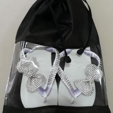 Sacos para sapatos de TNT com visor Cristal