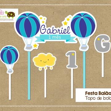 Topo bolo Festa Balão