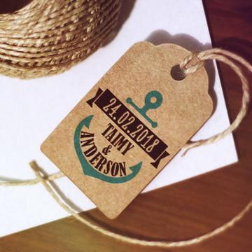 Tag Kraft para Casamento - Casamento na Praia